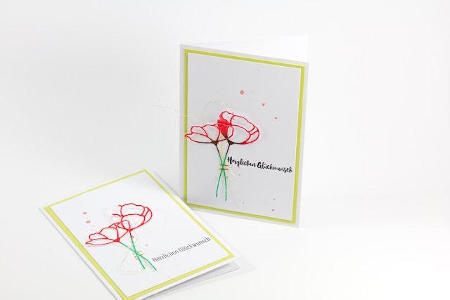 Flower card DIY