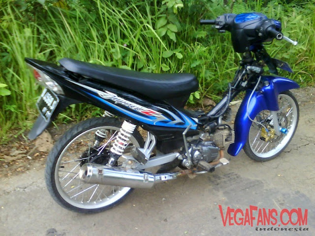 Modifikasi Jupiter Z Biru Hitam Modif Simple
