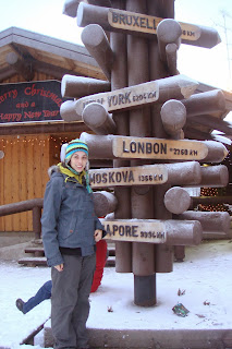 Lapland sign post