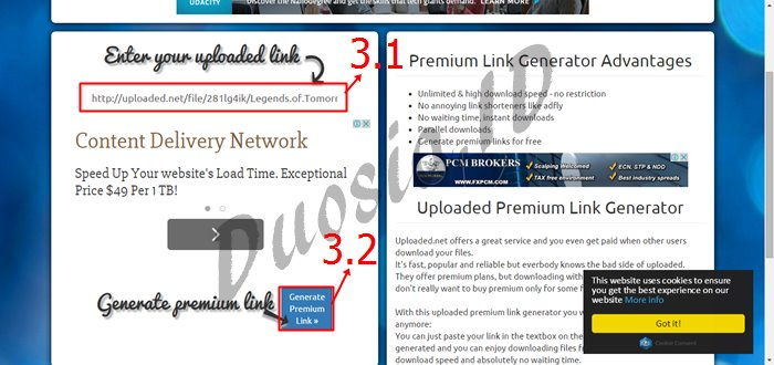 Cara Download di Uploaded.net Full Speed dan Tanpa Menunggu menggunakan uploaded-premium-link-generator.com Langkah ke 3