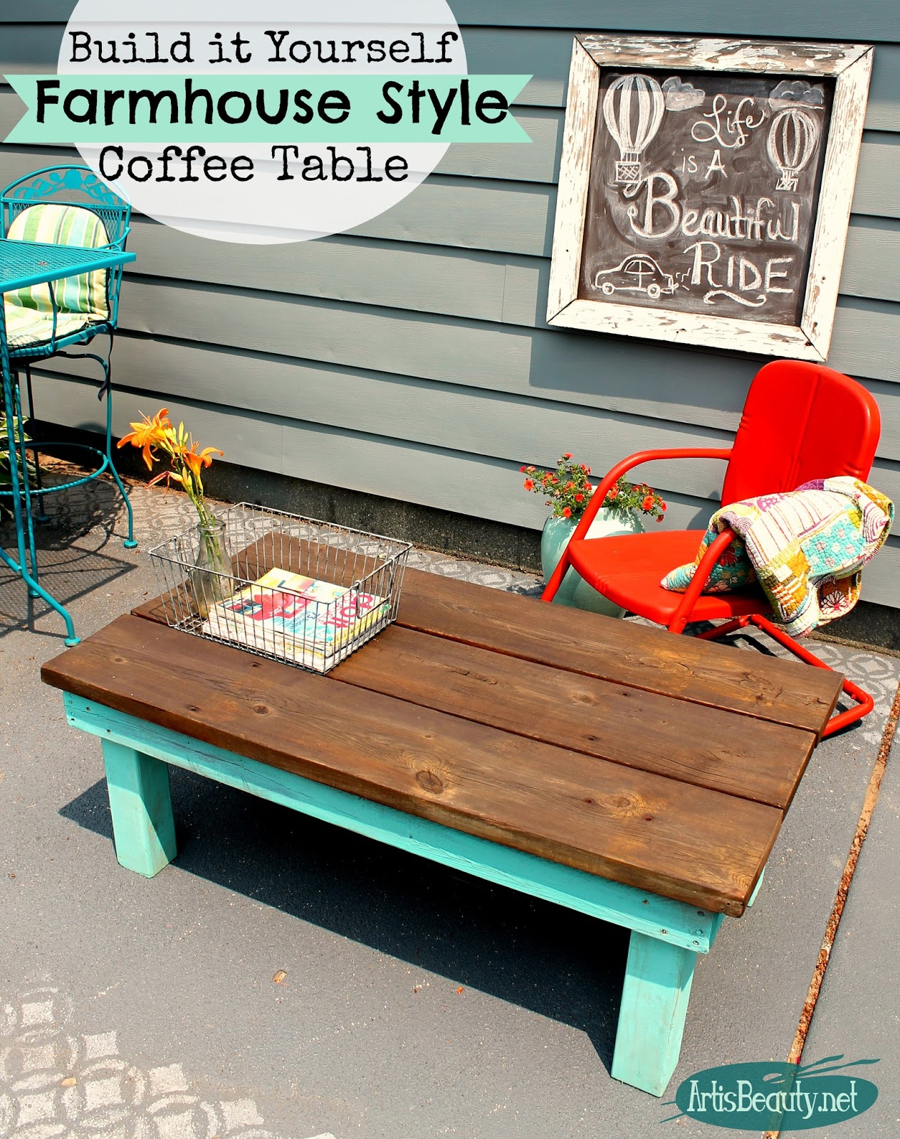 Art Is Beauty Old Kids Loft Bed Turned Rustic Vintage Style Coffee Table