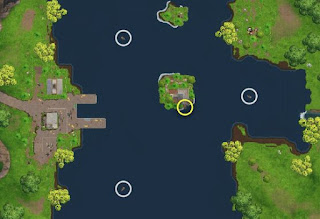 Fortnite Battle Royale, Week 8 Challenges, Search Between 3 Boats Location
