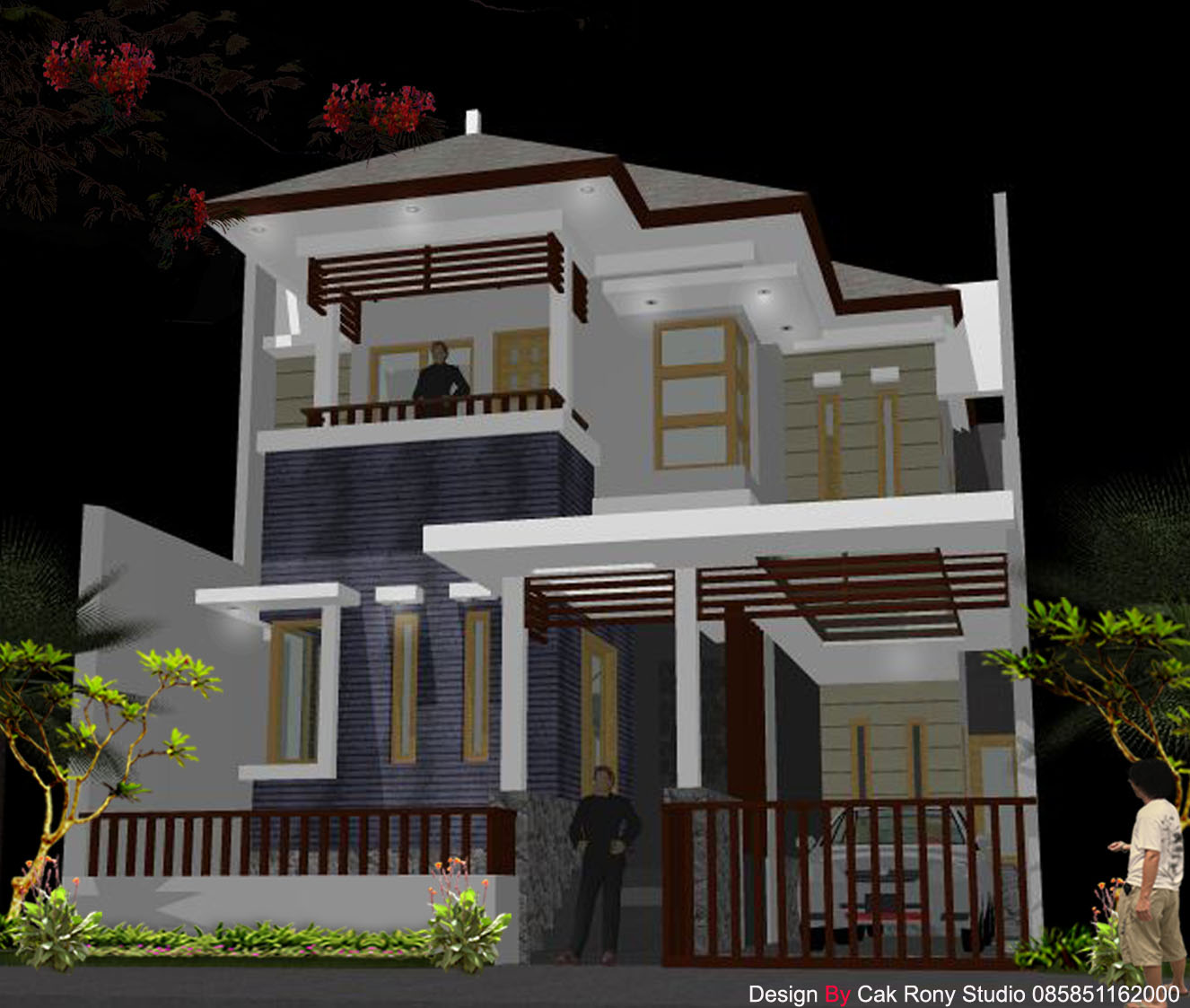 100 Desain Contoh Gambar Rumah Minimalis Lantai 2 Modern Model