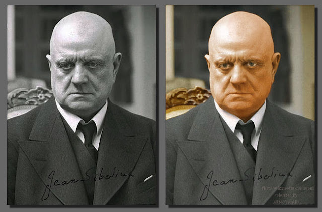 "Johan Christian Julius ""Jean"" Sibelius, Colorized"