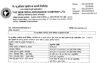 NIACL Assistant important dates