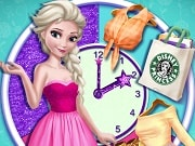 Juega a este fabuloso juego de Frozen y ayuda a nuestra reina Elsa para cambiar el vestuario durante los diferentes etapas del día. Elige un elegante vestido para empezar la jornada con un estilo ideal para las primeras horas del día. Por la noche ella tiene una cita nocturna con Jack, así que elige un vestido ideal para su cita romántica. Después, ella pasará su noche con las chicas en el club con un estilo más fresco y divertido.