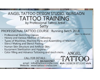 Tattoo Training, Tattoo training fee, tattoo training course