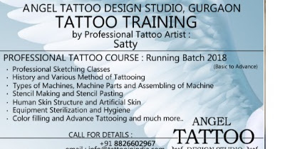 Tattoo Training Course : 3rd Batch starting on 1st Oct 2018