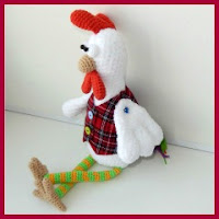 Gallo amigurumi