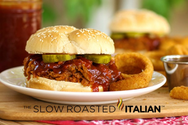 Crock Pot Pulled Pork Sandwich from The Slow Roasted Italian