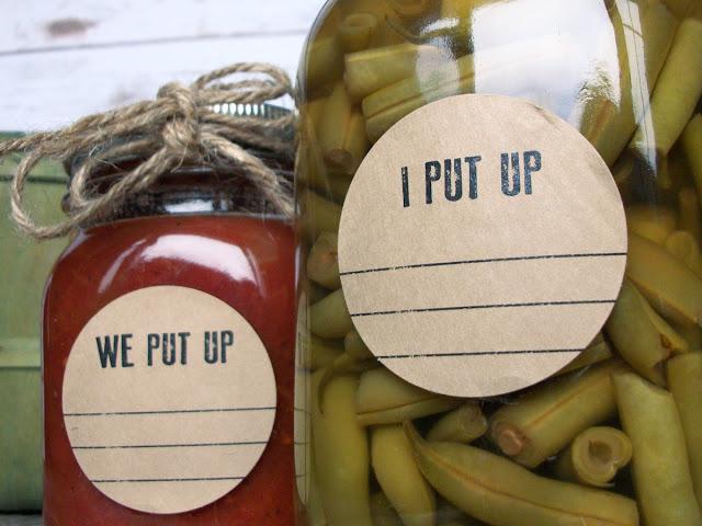 Kraft I Put Up & We Put Up Canning Jar Labels
