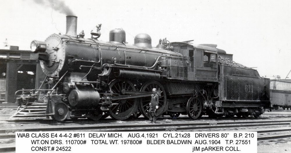 Car Driving Services Long Distance >> Eddie's Rail Fan Page: Wabash Railroad 4-4-s Atlantic type ...