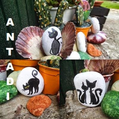Las creaciones de antadi reciclar y decorar con piedras - Piedras pintadas para jardin ...
