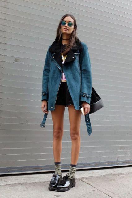 Модные женские дубленки зима 2017 - фотообзор