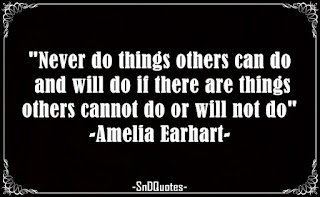 Never do things others can do and will do if there are things others cannot do or will not do. Amelia Earhart quotes