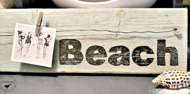 Rustic Driftwood Beach Photo Display