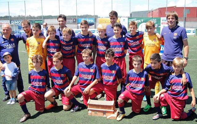 El F.C. Barcelona se impone al Real Madrid en la final del Torneo Alevín de Carballo (Fotos)