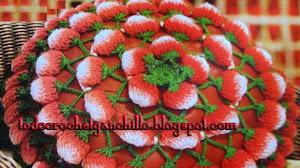 Maravilloso almohadón de frutillas paso a paso