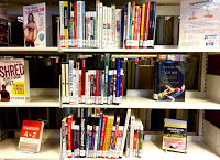 Bookshelf with fitness books