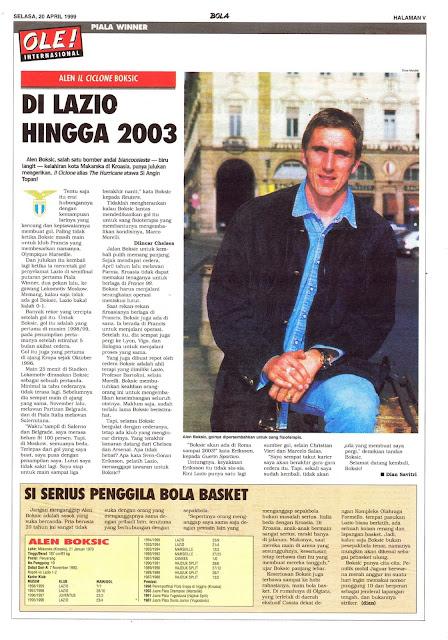 ALEN CICLONE BOKSIC DI LAZIO HINGGA 2003