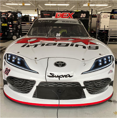 Harrison Burton's Toyota Supra is ready for the Boyd Gaming 300.