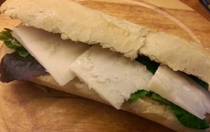 St. Helen's Farm Goat's Milk Hamper review mature cheese sandwich baguette