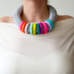 Rainbow Crochet Necklace