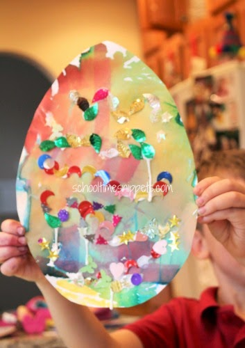 easter egg activity using bleeding tissue paper