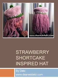http://dearestdebi.com/strawberry-shortcake-inspired-hat