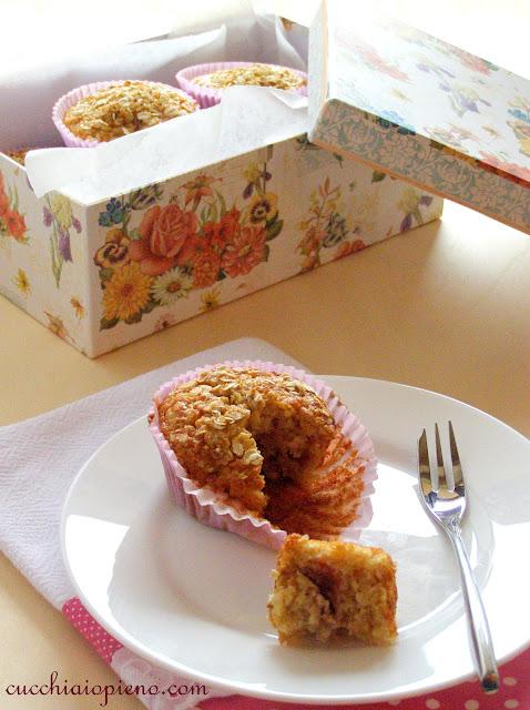 Delicioso muffin de morango, banana e maçá. O melhor que já comi!