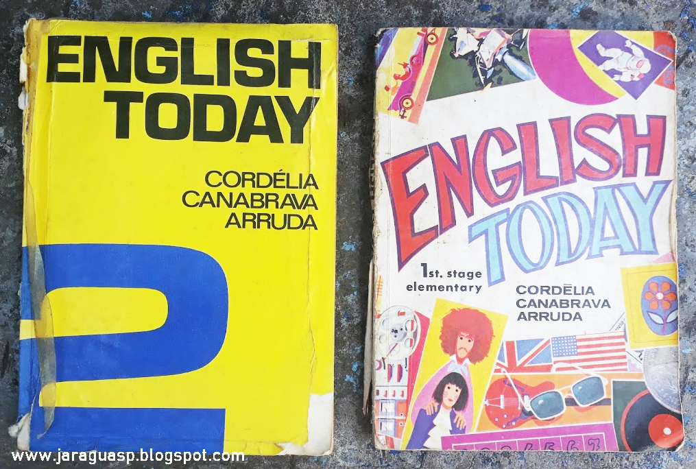 Livros adotados pelo colégio Isabel nos anos 1970.  Foto: Marinaldo Gomes Pedrosa
