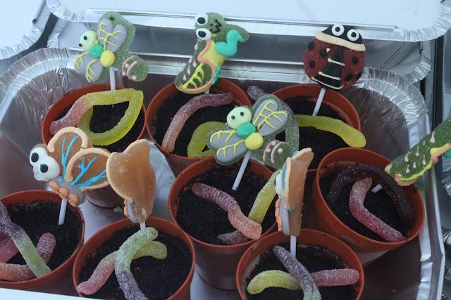 Kids flower pot desserts