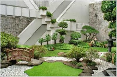 contoh taman belakang rumah