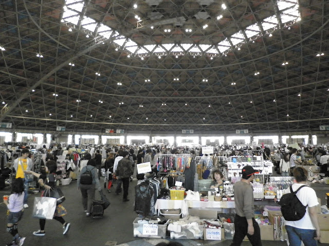 Manmos Flea Market at Port Messe Nagoya, Aichi Pref.