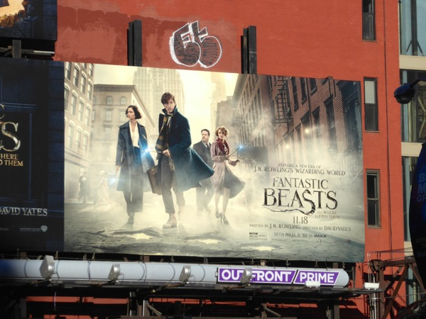 Fantastic Beasts film billboard