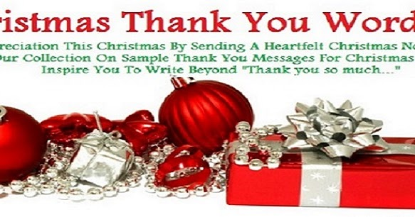 Thank You Messages! : Christmas