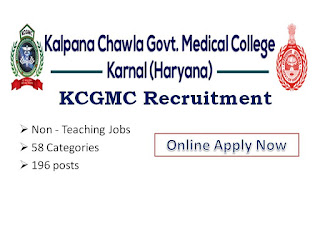 KCGMC, Karnal, Haryana, Kalpana Chawla Govt Medical College Karnal Haryana,Recruitment, Notification, Staff Nurse, Staff nurse Vacancy, Staff nurse Jobs, Nursing Recruitment,Jobs, Non - Teaching Jobs, Nurse, Nursing Superinednet,