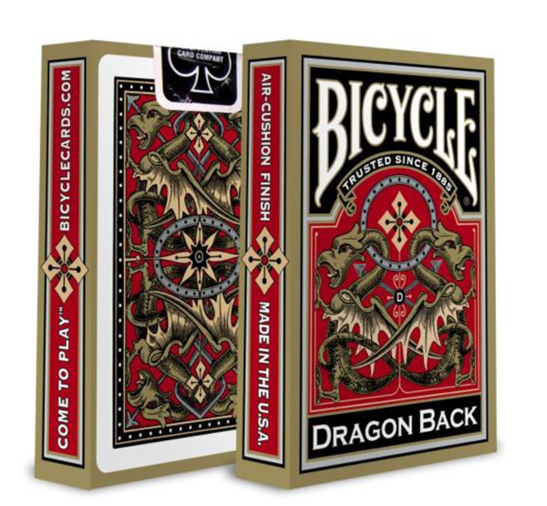 Bicycle gold dragon back playing cards hardcore steroids