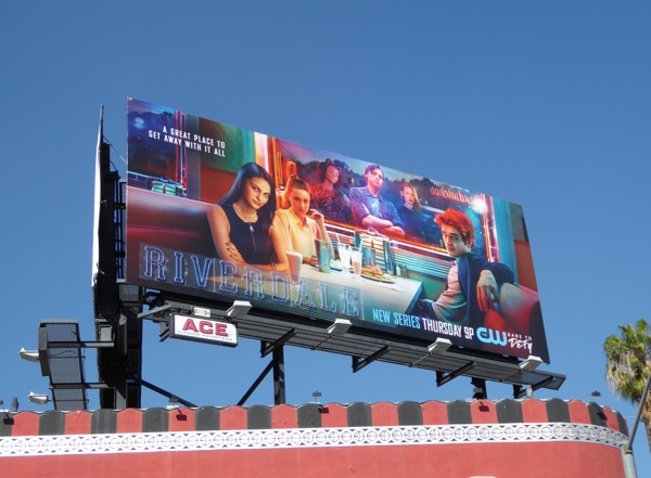 Riverdale series launch billboard