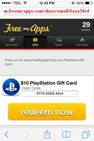 FreeMyApps com PSN, iTunes Gift Card, Amazon Gift Card