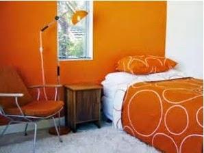 A mi manera paredes de color naranja en el dormitorio - Pintura para dormitorios juveniles ...