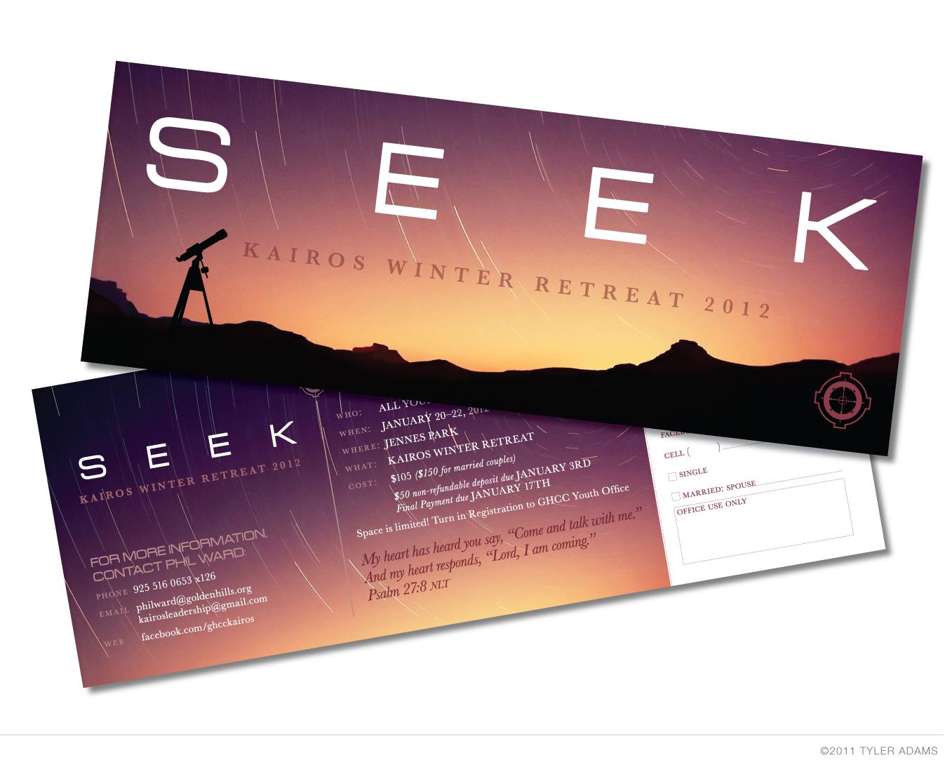 Tyler Adams Design: A Graphic Design Blog: Seek: Kairos