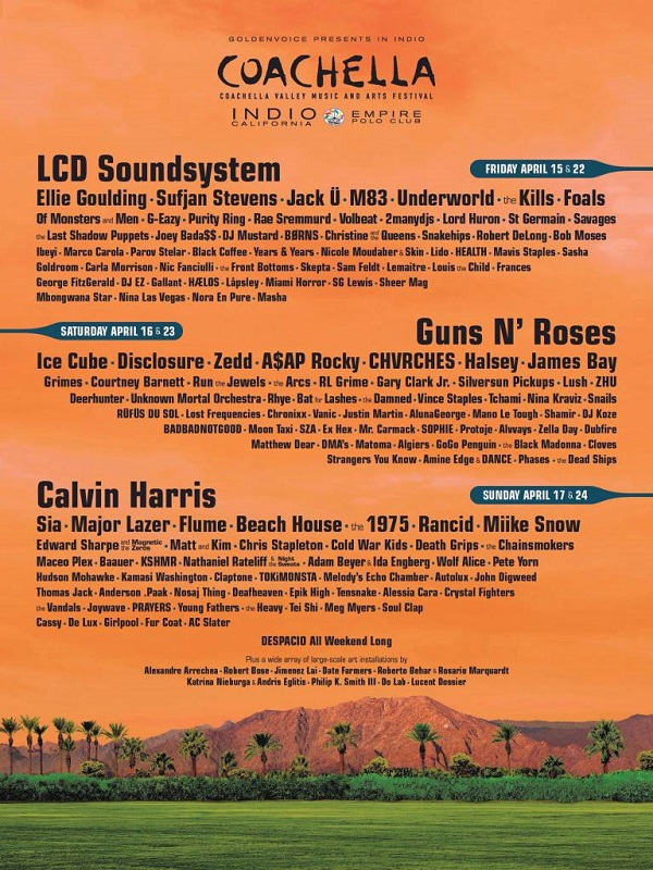 Coachella Lineup 2016 Playlist