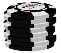 black poker chip stack