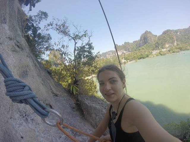 Climbing real rocks climbing school