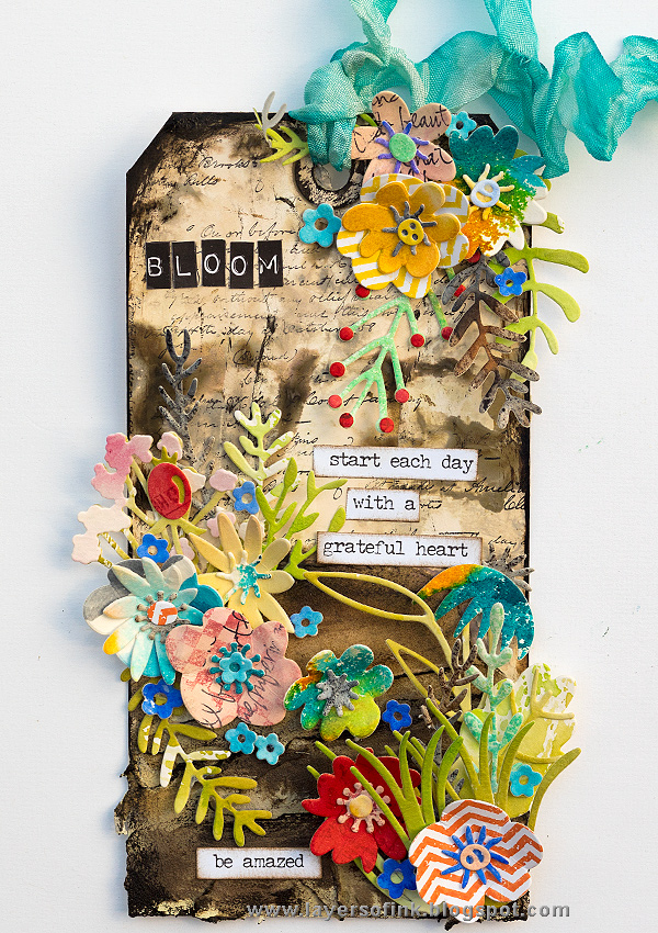 Layers of ink - Flower Power Tag by Anna-Karin Evaldsson.