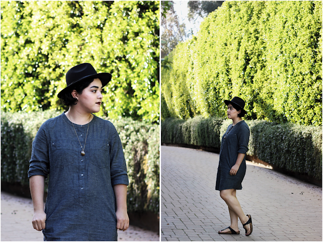 Outfit of the Day | The Chambray Dress