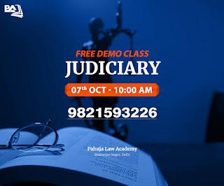 Free Demo Class for Judiciary - Pahuja Law Academy