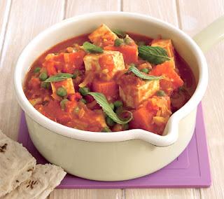 Sweet Potato Curry with Paneer Recipe