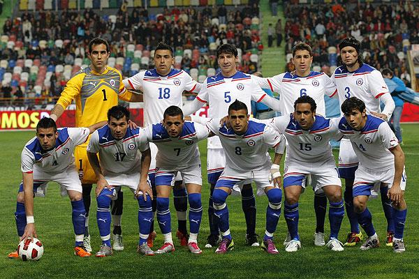 Formación de Chile ante Portugal, amistoso disputado el 26 de marzo de 2011